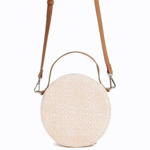 • euc ➳ straw circle crossbody •
